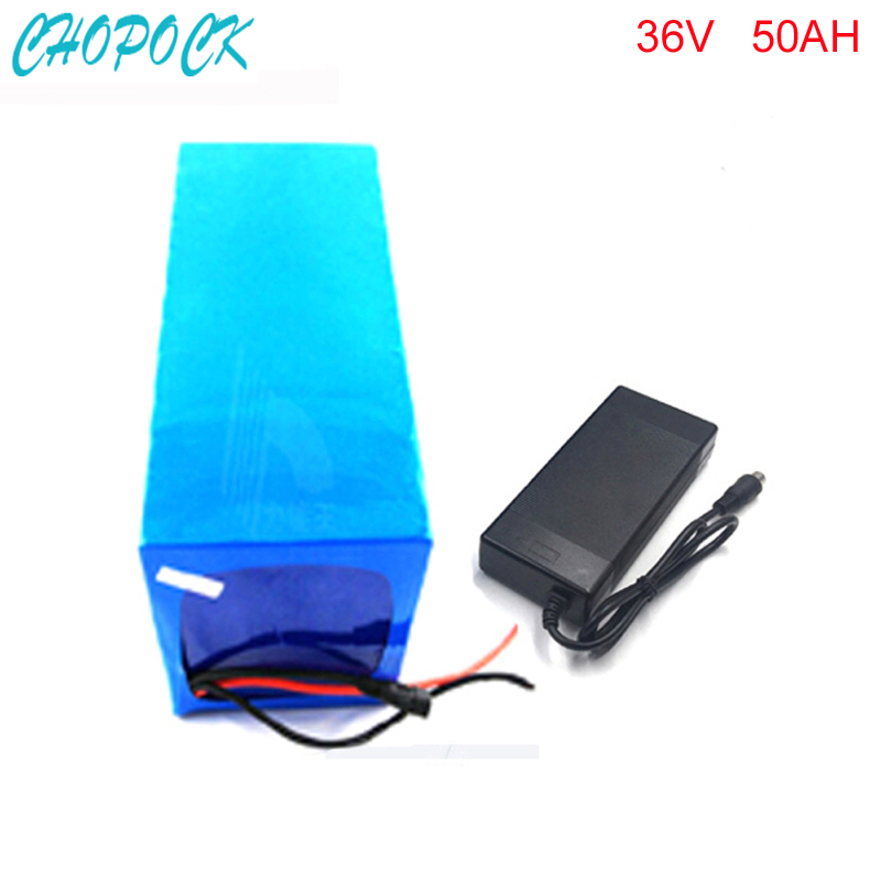 No taxes DIY E-scooter Battery Pack 36v 1000w li-ion Electric Bike Battery 36v 50ah Lithium Battery with BMS and charger liitokala battery pack 36v 6ah 10s3p 18650 battery rechargeable bikes modified protection of the electric vehicle 36v with pcb
