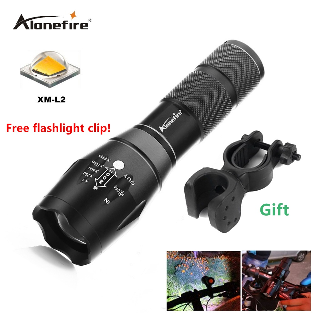 AloneFire G700/E17 XM-L T6 XM-L2 Zoomable 3800LM led Flashlight Bike Light Front Torch Waterproof Adjustable Focus Zoom Lights cree xm l t6 bicycle light 6000lumens bike light 7modes torch zoomable led flashlight 18650 battery charger bicycle clip