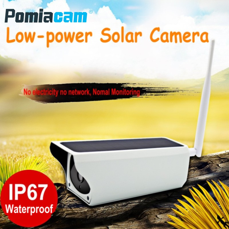 2018 Newest Solar Camera Y4 HD 1080P Wifi Wireless IP Camera Waterproof Outdoor Solar Powered Security