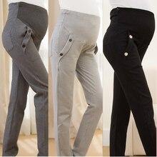 3459c1b816a9 Di cura Pancia Prop Leggings In Cotone Casual Maternità Pantaloni Maternità  Vestiti di Pantaloni Vestito di