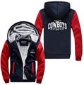 Hot New Dallas Zipper Jacket Fleeces Hoodie Logo Winter JiaRong Fleece Mens Sweatshirts Free Shipping