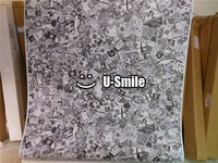 Black And White Car Sticker Bomb Vinyl Wrap Sheet Air Free For Auto Graphics Motorcyle Mcabook 30M/Roll