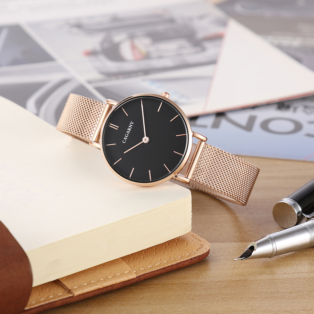 ultra thin quartz watches for women fashion ladies wristwatch drop shipping rose gold steel mesh bracelet watch gifts (18)