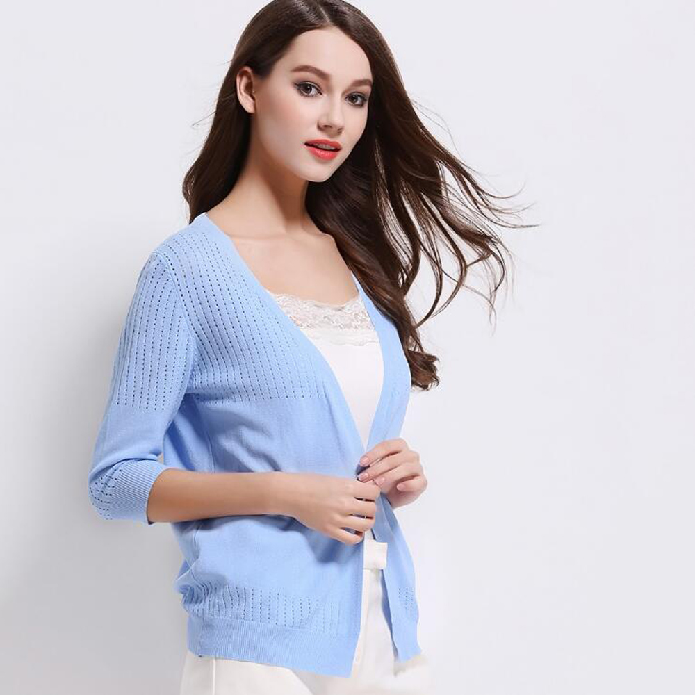 Fashion Split Female Loose women Knitwear Women's thin cardigan ...