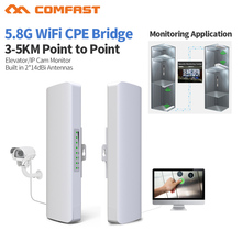 2pcs Comfast CF-E312A 23dBm High Power Outdoor Wifi Repeater 5GHz 300Mbps Wireless Wifi Router AP Extender Bridge nano station