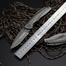 High quality new Browning outdoor folding knife titanium handle 7Cr17Mov blade Tactical survival knife pocket knives