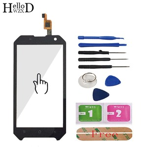 Image 2 - Mobile Front Touch Glass For Blackview BV6000 BV 6000 Lens Sensor Touch Screen Digitizer Panel Adhesive + Screen Protector Gift