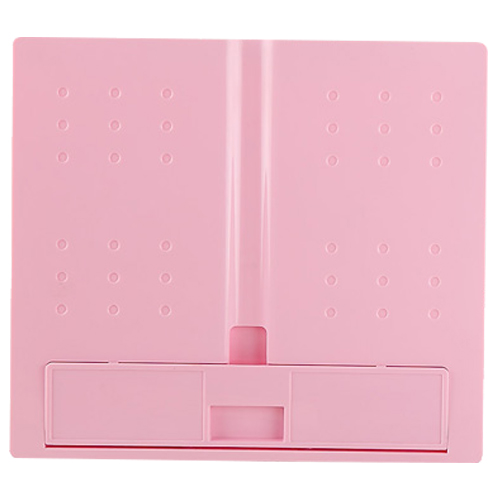JIELISI 754 square folding type reading computer typewriter document file rack pink ...