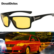 Night Vision Sunglasses for Men UV400 Protection Night Driving Glasses Male Polarized Yellow Lens Sun Glasses 2019 New oreka 1025 fashion uv400 protection resin lens polarized sunglasses driving glasses tan