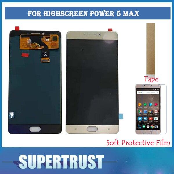 5.5 pouces pour écran haute puissance cinq Max écran LCD + écran tactile numériseur assemblée couleur or avec KIT