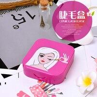 5pcs/lot Make up Acrylic Eye Lashes Organizers Tools False Eyelash Storage Box Makeup Cosmetic Mirror Case Organizer for Women