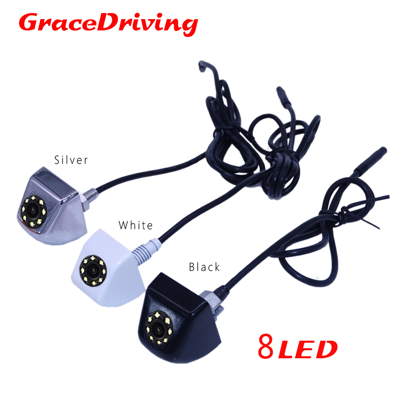 Free Shipping New 3color available White beauty/Silver top grade/Black Car rear view camera 170 degree universal CCD rear camera