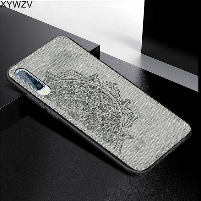 עבור סמסונג גלקסי A50 מקרה רך סיליקון יוקרה בד מרקם קשיח מחשב מקרה טלפון עבור Samsung Galaxy A50 כיסוי עבור סמסונג A50