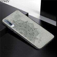 Pour Samsung Galaxy A50 étui souple en Silicone de luxe Texture de tissu dur PC téléphone étui pour Samsung Galaxy A50 couverture pour Samsung A50
