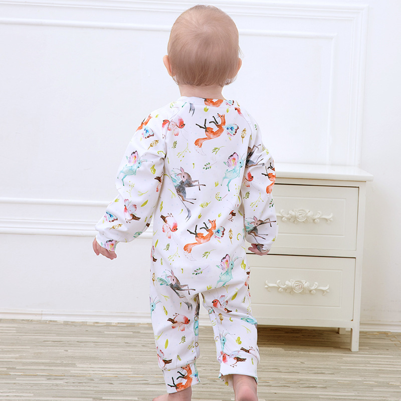 6c4bc60caa1aa US $4.91 10% OFF Floral Pig Baby Rompers Autumn Winter Newborn Outfits Baby  Boy Long Sleeve Cute Rabbit Wing Rompers Jumpsuit Baby Girl Clothes-in ...