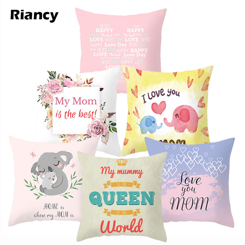 Mother's Day Mom Love Decorative Cushion Cover Pillow Pillowcase Polyester 45*45 Throw Pillows Home Decor Pillowcover 40837