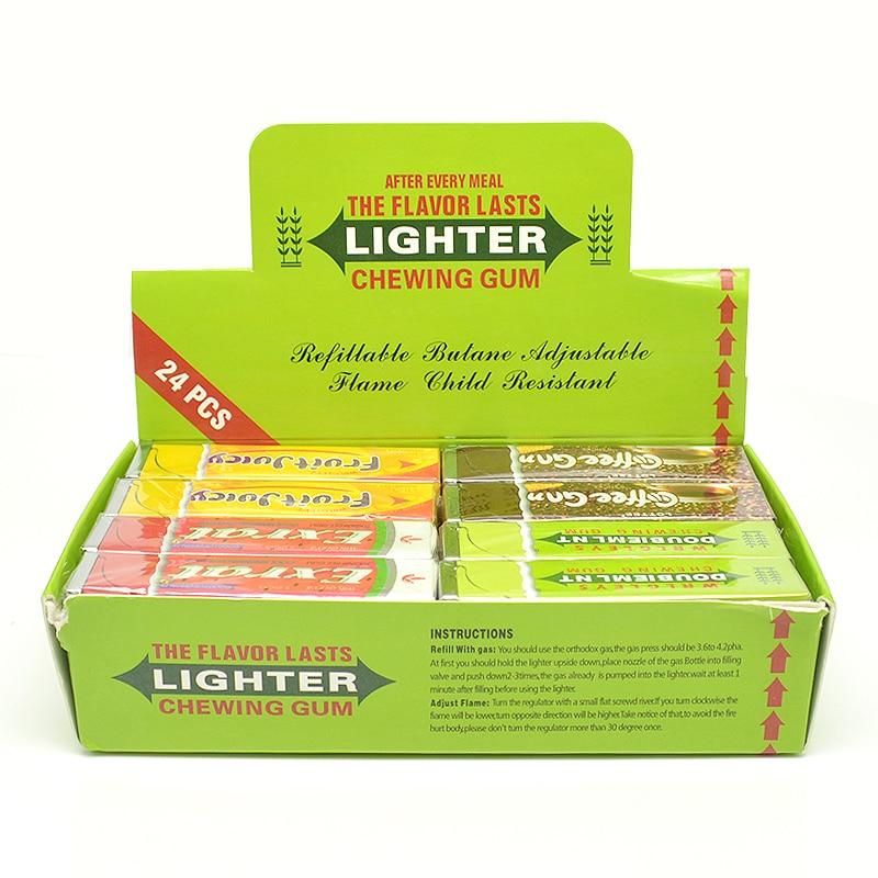 2 pcs lot Novelty asap rokok gas Ringan Permen Karet Bentuk Butana Tahan  Angin gas Api ringan ringan Gadget (warna Acak) ebe5908ec2