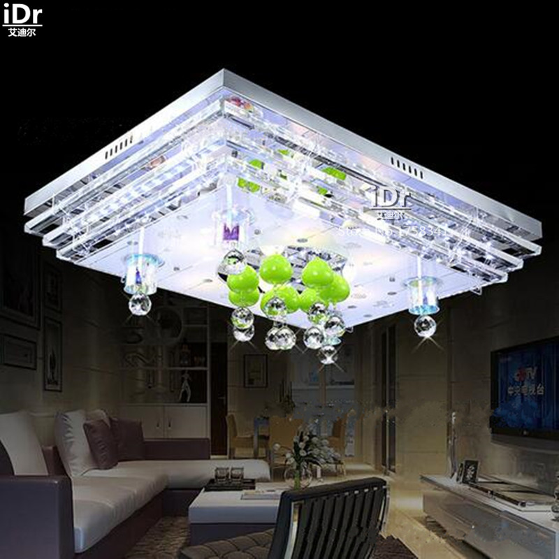 modern minimalist rectangular led crystal lamp living room flat low voltage lighting ideas ceiling lights wwy cheap ceiling lighting