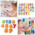 Crianças Educacional Flutuante Banho Do Bebê 36 pcs Letras Números vara no Banheiro Doces caneta cor Da Água Brinquedos Clássicos