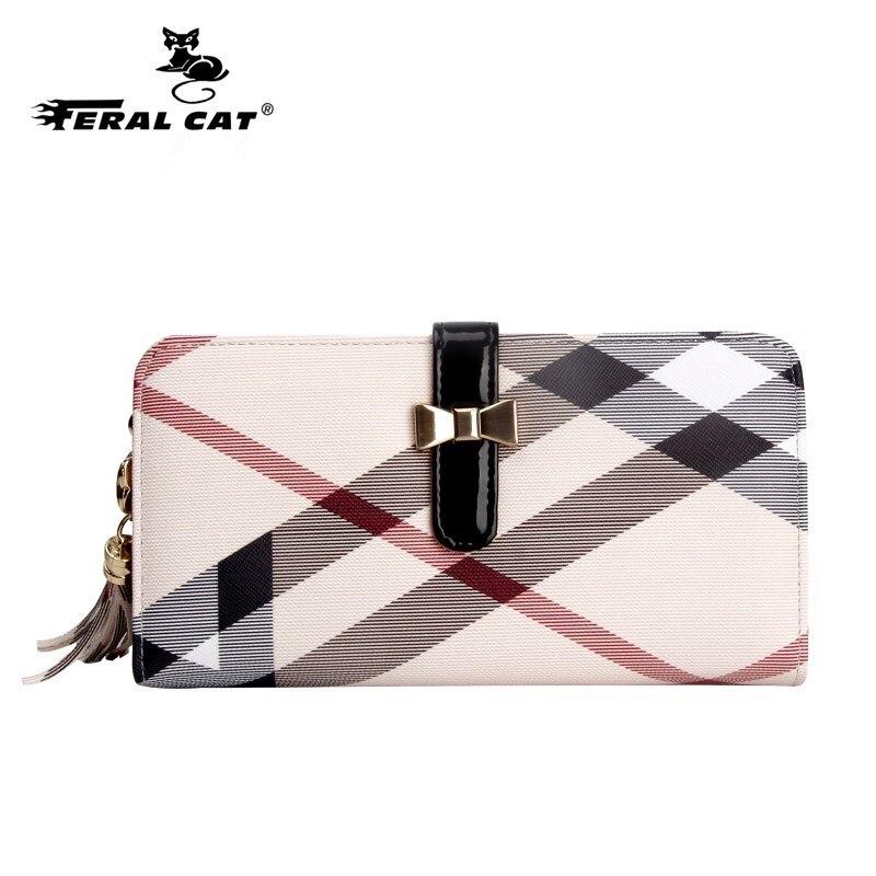 2018 femmes de portefeuilles et Mère jour cadeau porte-cartes de haute qualité de luxe dames de mode argent bourse de portefeuille téléphone portefeuille