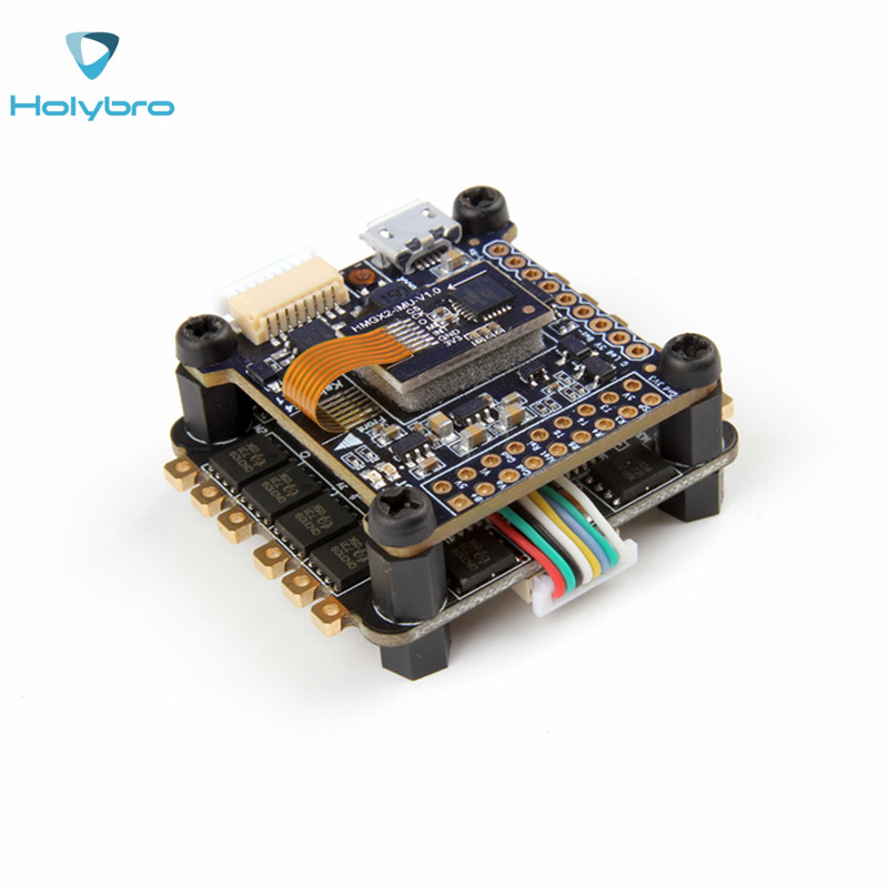 Holybro TekkoS 4 in 1 30A BLHeli_S ESC Current Sensor + Kakute F4 V2 Flight Controller For RC Racing Drone DIY Multicopter Parts emax f4 magnum tower parts bullet 30a 4 in 1 blheli s esc 2 4s built in current sensor for rc multicopter models motor frame
