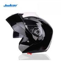 2017 New JIEKAI Double lens Motorcycle helmet JK105 ABS Flip Up Helmet Open Face Motorbike helmets have 8 color Size M L XL XXL