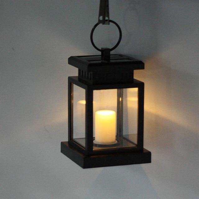 Superior Solar Power Candle Light Outdoor Garden Yard Umbrella Tree Lantern Hanging  Lamp Solar Candle Lamp For