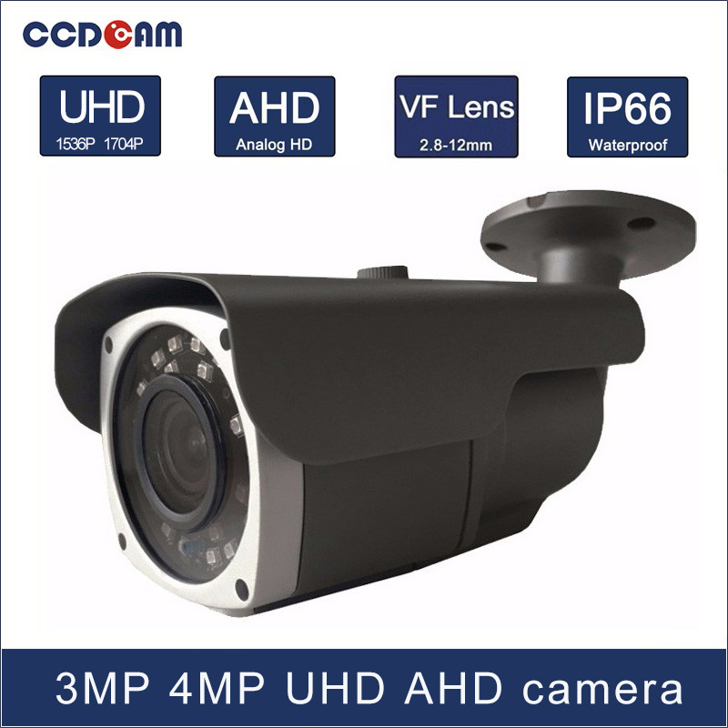CCDCAM 3MP 4 MP high definition day and night vision AHD 2.8-12mm VF lens camera with 24 pcs micro Array IR leds 40m IR distance hot ahd camera 960p 1 3mp sony imx238 chip high power array leds waterproof clear night vision ir filter 1 3 serveillance camera