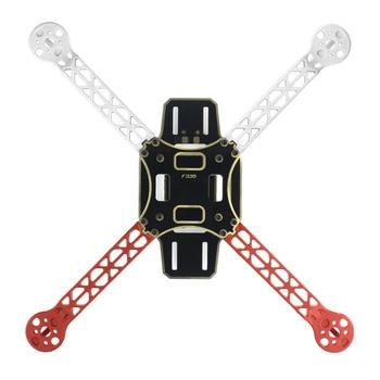 F02471 f330 multicopterフレーム機体炎ホイールキット白/赤に関してkk mk mwc 4車軸rc quadcopter ufo + fs
