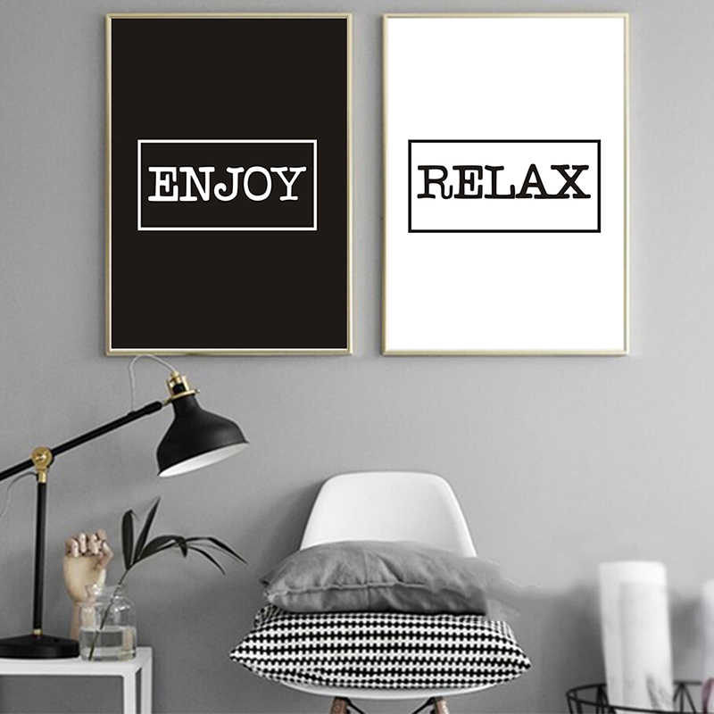 Abstract Text Graphics Poster Canvas Nursery Wall Art Print Painting Living Room Modern Nordic Style Home Decoration Picture