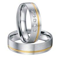 High end класса люкс ручной работы на заказ цвет золотистый декор здоровья titanium обручальные кольца пар комплекты