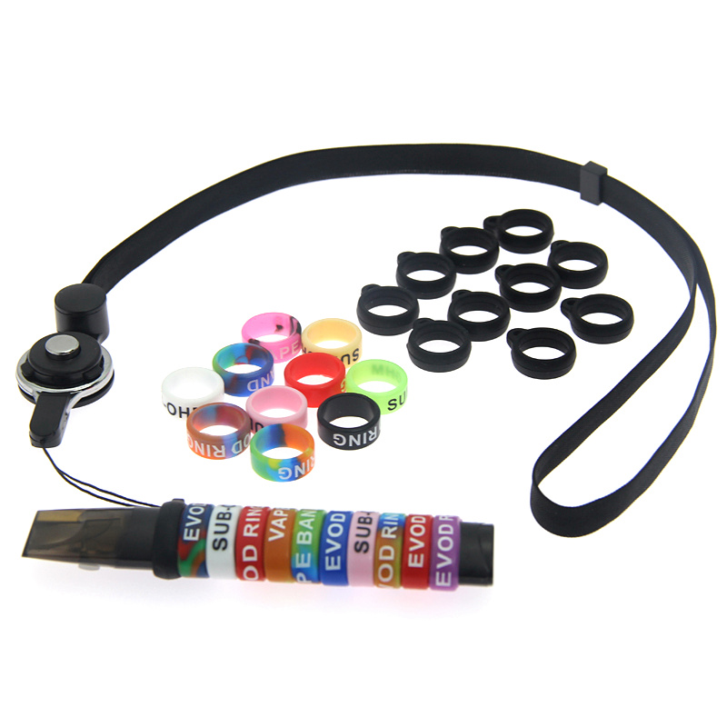 Electronic Cigarette Necklace lanyard Detachable Rotate Silicone Ring Vape Band Ring Silicone Ring for RELX Zero Pod Vape in Electronic Cigarette Accessories from Consumer Electronics