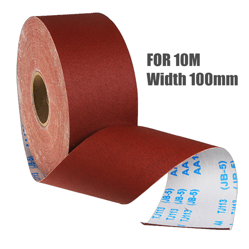 For 10m Width 100mm Emery Cloth Roll Polishing Sandpaper Grinding Tools Metalworking #60-800