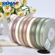 YAMA 25 28 32 38 mm 100yards/lot Double Face Satin Ribbon Dark Brown for Party Wedding Decoration Handmade Rose Flowers Gifts