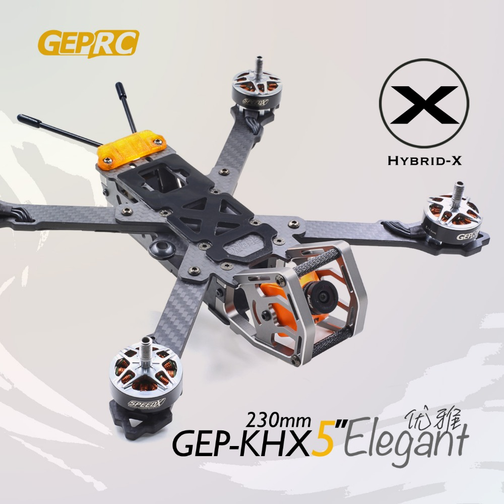 GEPRC GEP-KHX4 GEP-KHX5 GEP-KHX6 GEP-KHX7 Elegant Hybrid-X Carbon fiber Frame kit for FPV DIY Quadcopter parts