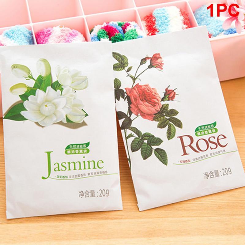 Nature Flower Fresh Air Plants Scented Fragrance Home Wardrobe Drawer Car Perfume Sachet 1