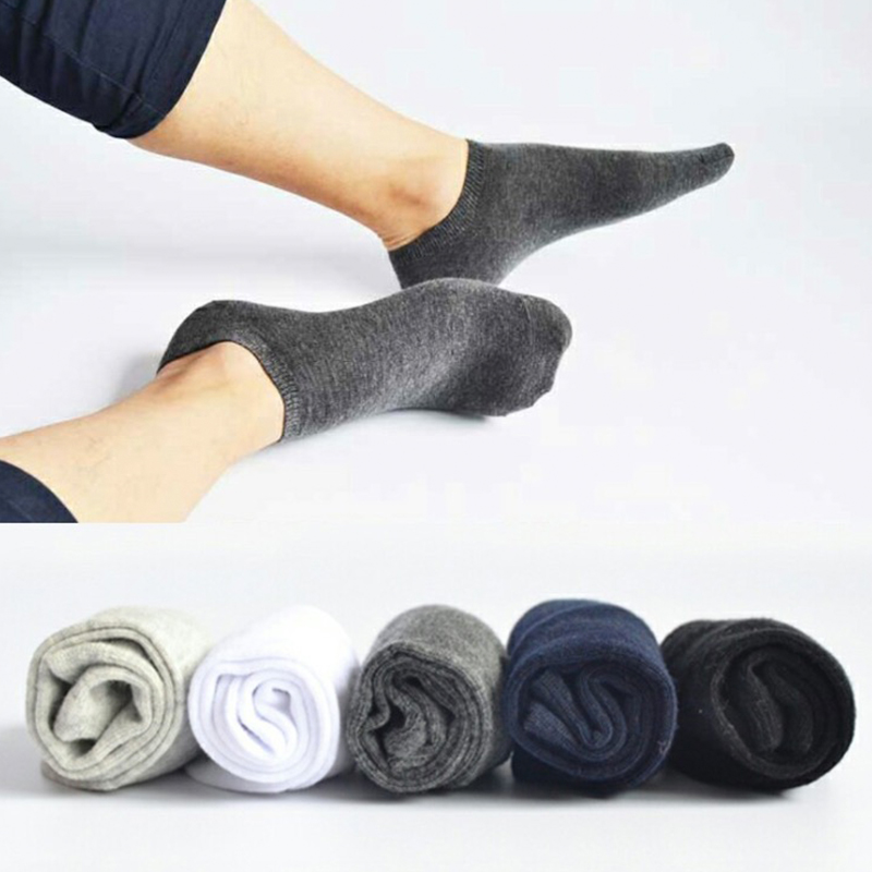 4pcs=2 Pairs/lot Spring Summer Men Cotton Ankle Socks For Men's Business Casual Solid Color Short Socks Male Sock Slippers