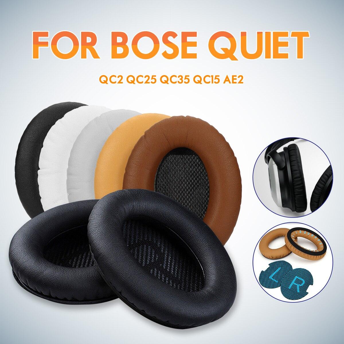 1 paire Noir Blanc Gris Café Kaki Remplacement Mousse Souple Éponge Casque Ear Pad Coussin Pour BOSE QC2 QC25 QC35 QC15 AE2