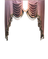 High end Velvet Gilded Purple Curtains for Living Dining Room Bedroom Blackout Valance Curtains