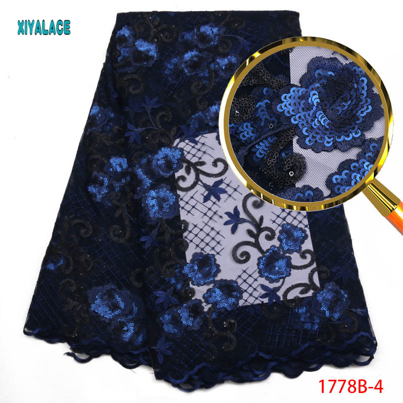 Nigerian Lace Fabric High Quality Sequin Fabric Embroidery African Lace Fabric For Party Afrcan French Lace