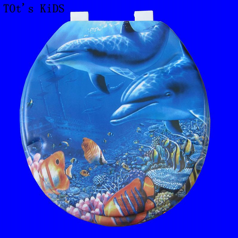 цена на toilet lid soft toilet seat 2017 new sea world design high quality warm toilet seat cover set sponge fashion 17