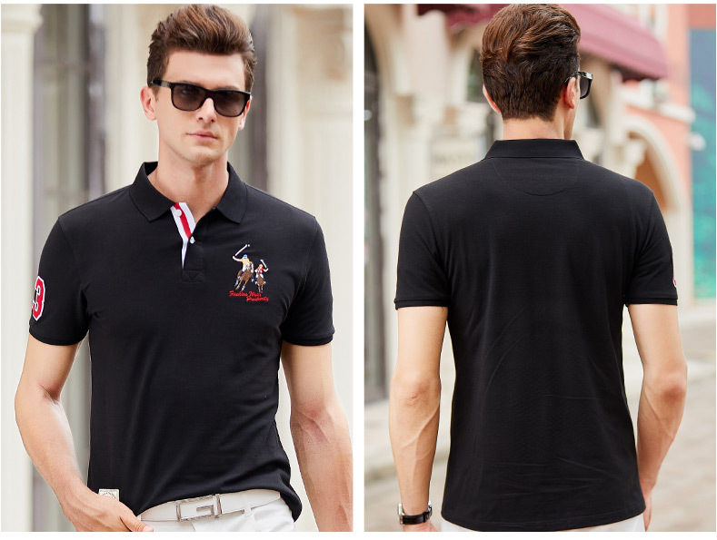 Fashion Summer Short Sleeve Solid Polo Shirt Men Cotton Print Slim Casual Polos Breathable Embroidery  Shirt Mens ClothingYP9099 18