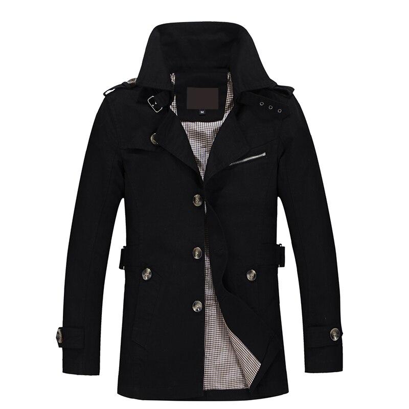 aspect esthétique 100% authentifié magasin officiel US $25.32 53% OFF|2019 New Jacket Men Fashion Design Veste Homme Slim Fit  Spring Autumn Winter Suit Coat Solid Cotton Khaki Brand Clothing M 5XL-in  ...