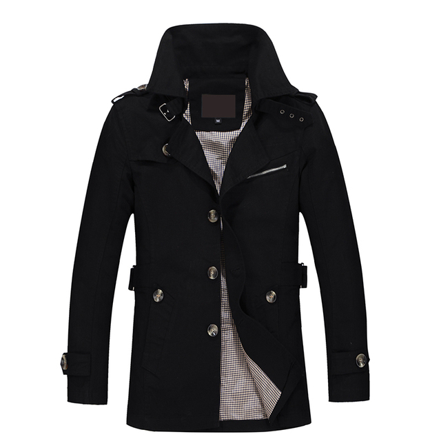 2019 New Jacket Men Fashion Design Veste Homme Slim Fit Spring Autumn Winter Suit Coat Solid Cotton Khaki Brand Clothing M-5XL