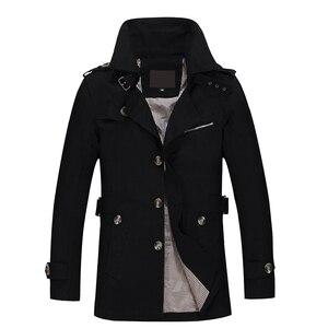 Image 1 - 2020 nova jaqueta masculina design de moda veste homme fino ajuste primavera outono inverno terno casaco sólido algodão cáqui marca roupas M 5XL