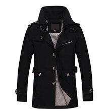 Chaqueta nueva de 2020 para hombre con diseño de moda Veste Homme Slim Fit primavera otoño invierno abrigo sólido de algodón caqui marca ropa M 5XL