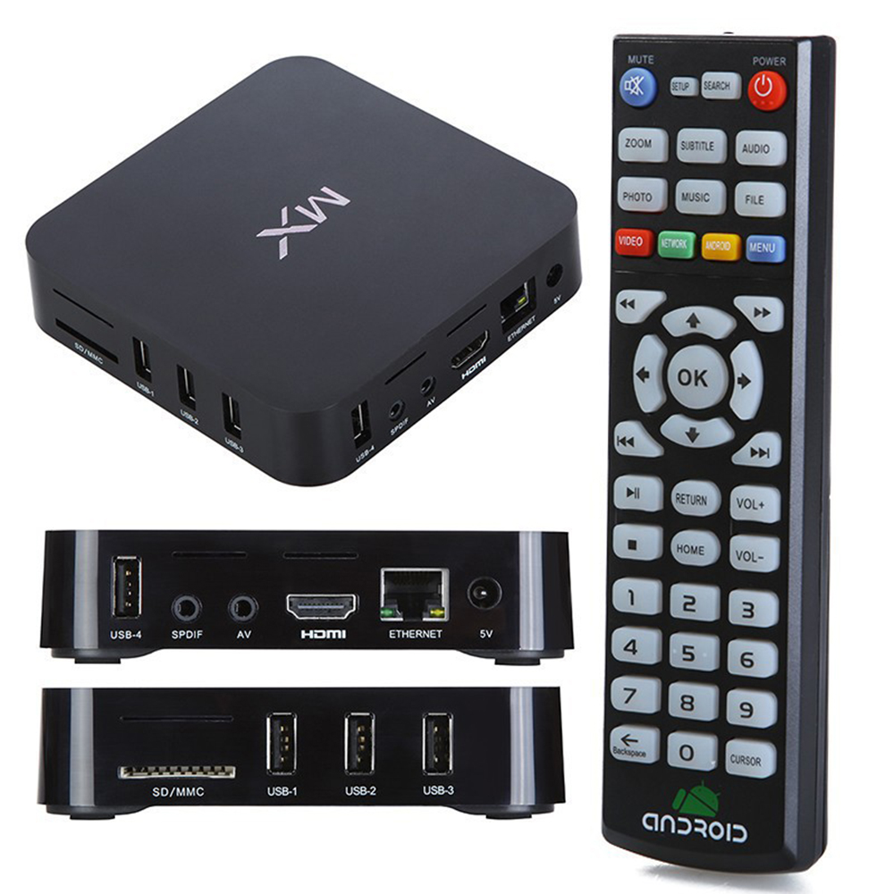 Newest MX Amlogic dual Core MX Android TV BOX 8726 1G+8G Android 4 2 with  KODI, Showbox mobdro facebook skype WIFI Free Shipping-in Set-top Boxes  from