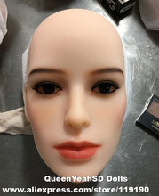 #116 Top quality solid silicone sex doll head for love doll, realistic dolls heads with oral sexy, sex toys
