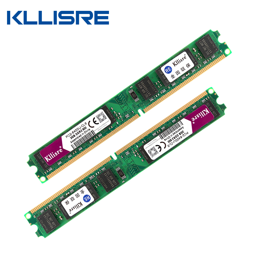 Kllisre DDR2 (2 stücke X 2 GB) Ram 2 GB 800 MHz PC2-6400U 1,8 V CL6 240Pin nicht-ECC Desktop-speicher Dimm Neue