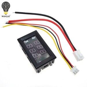 """Image 2 - DC 0 100V 10A Digital Voltmeter Ammeter Dual Display Voltage Detector Current Meter Panel Amp Volt Gauge 0.28"""" Red Blue LED"""
